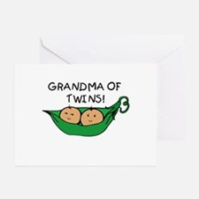 Grandma of Twins Pod Greeting Cards (Pk of 10)
