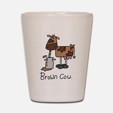 Brown Cow Shot Glass