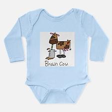 Brown Cow Long Sleeve Infant Bodysuit