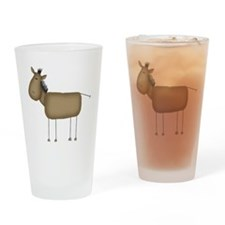 Stick Figure Horse Pint Glass