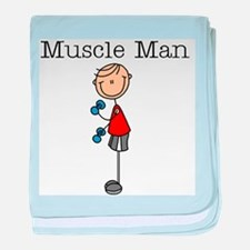 Muscle Man baby blanket