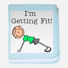 I'm Getting Fit baby blanket