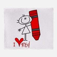 I Love Red Throw Blanket