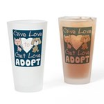 Give Love to Get Love Pint Glass