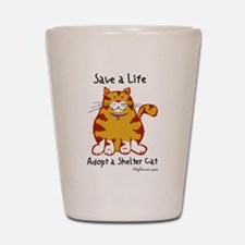 Shelter Cat Shot Glass