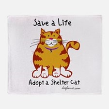 Shelter Cat Throw Blanket