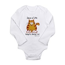 Shelter Cat Long Sleeve Infant Bodysuit