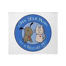 Open Your Heart - Rescued Pet Throw Blanket