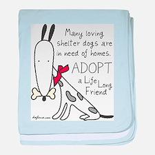 Life Long Friend (Dog) baby blanket