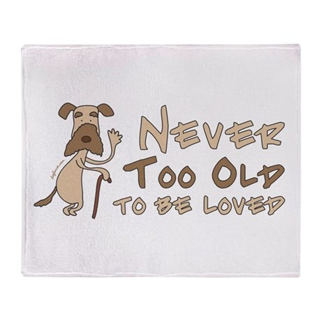 Senior Dog Adoption Throw Blanket