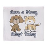Save a Stray - Adopt Today Throw Blanket