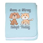 Save a Stray - Adopt Today baby blanket