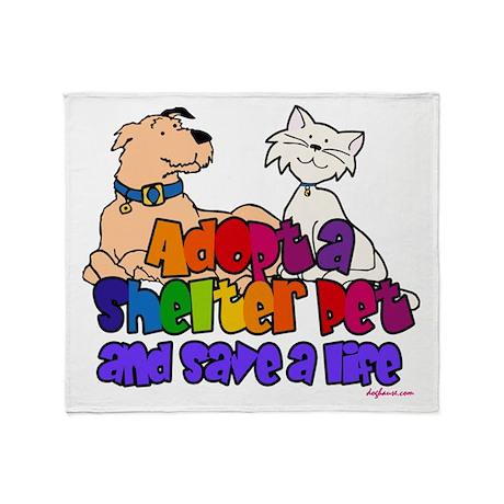 Adopt Shelter Pet Throw Blanket
