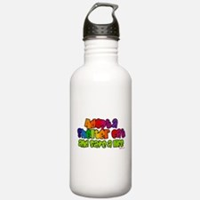 Adopt Shelter Cat (Rainbow) Water Bottle