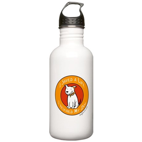 I Rescued My Dog Stainless Water Bottle 1.0L