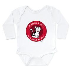 I Rescued My Cat Long Sleeve Infant Bodysuit