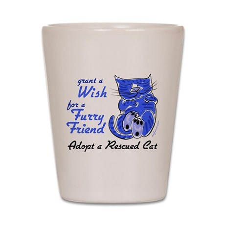 Grant Wish - Adopt Cat Shot Glass