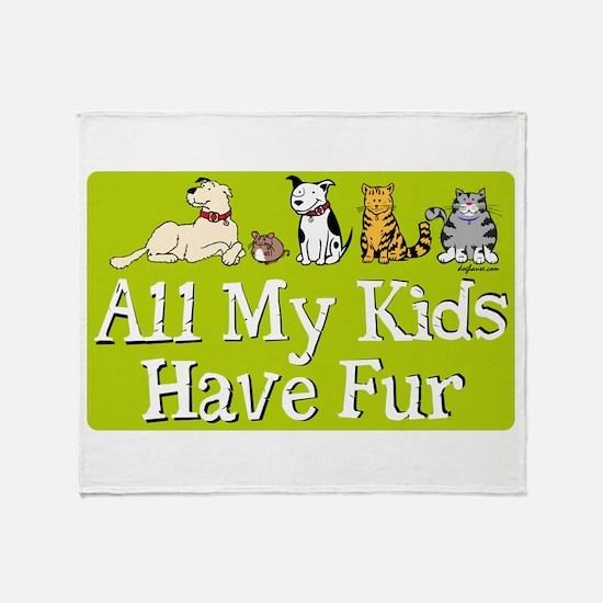 All My Fur Kids Throw Blanket
