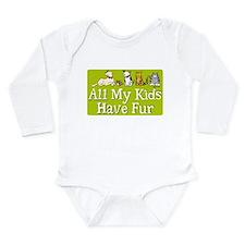 All My Fur Kids Long Sleeve Infant Bodysuit