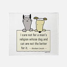 Lincoln's Religion Throw Blanket