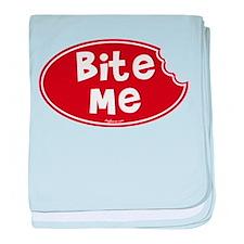 Bite Me baby blanket