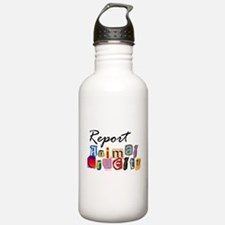 Report Animal Cruelty Water Bottle