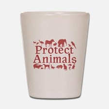 Protect Animals Shot Glass