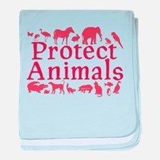 Protect Animals baby blanket