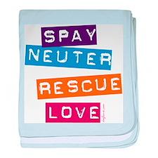 Spay Neuter Rescue Love baby blanket