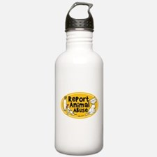 Report Animal Abuse Water Bottle