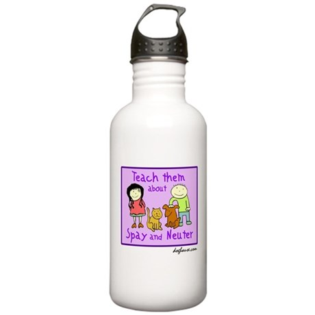 Teach Spay and Neuter Stainless Water Bottle 1.0L