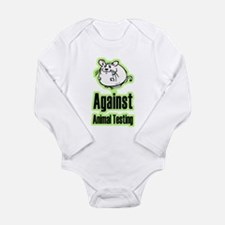 Against Animal Testing Long Sleeve Infant Bodysuit