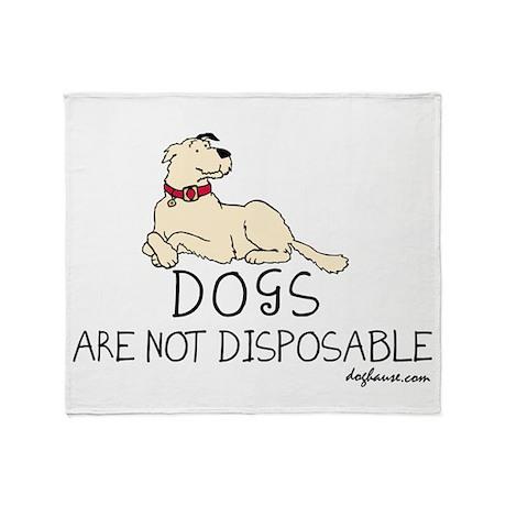 Non-Disposable Dogs Throw Blanket