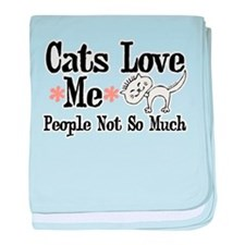 Cats Love Me baby blanket