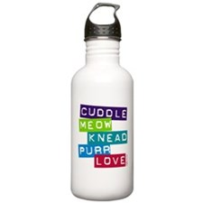 Cuddle Meow Knead Purr Love Water Bottle