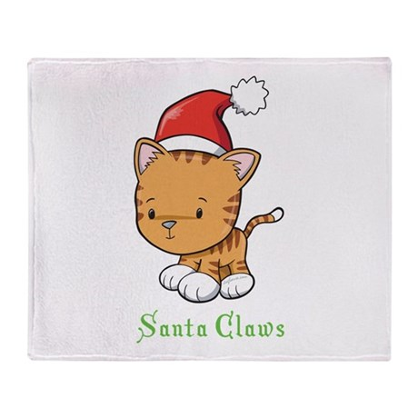 Cute Cat Christmas Throw Blanket