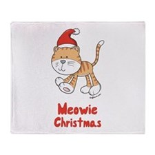 Christmas Kitty Throw Blanket