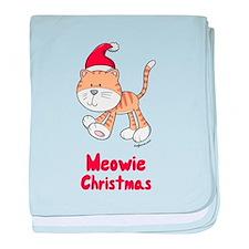 Christmas Kitty baby blanket