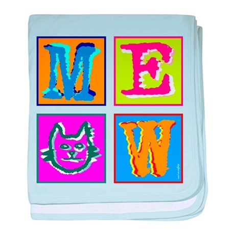 Warhol Inspired Meow baby blanket