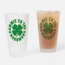 Commit to the Shamrock Pint Glass
