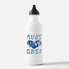 Must Love Cats Water Bottle