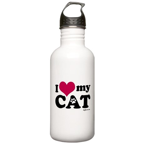 I Love My Cat Stainless Water Bottle 1.0L