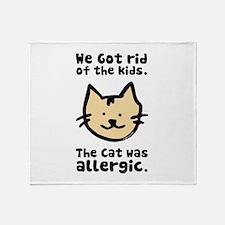 Kept the Cat Throw Blanket