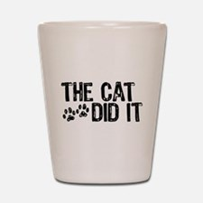 The Cat Did It Shot Glass