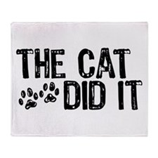 The Cat Did It Throw Blanket