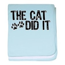 The Cat Did It baby blanket