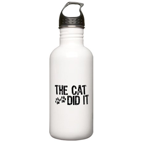 The Cat Did It Stainless Water Bottle 1.0L
