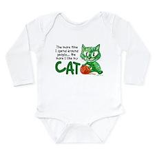 More Time (Cat) Long Sleeve Infant Bodysuit