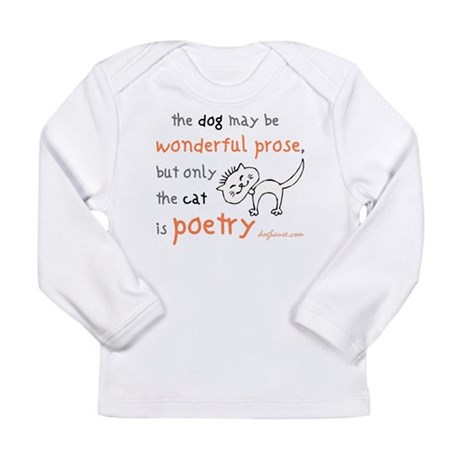 Cat Poetry Long Sleeve Infant T-Shirt