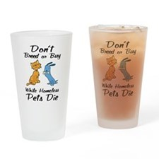 Don't Breed or Buy Cat&Dog Pint Glass